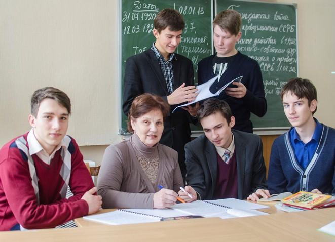 Т.В. Ільіна і яе дзесяцікласнікі