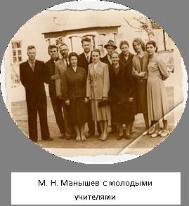 М.М. Манышаў з маладымі настаўнікамі