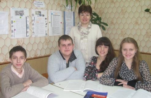 Г.М. Белавешкіна са сваімі вучнямі